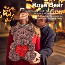 New 25cm/36cm Artificial Flowers Rose Bear Girlfriend Anniversary Valentine's Day Gift Birthday Gift for Wedding Party Flowers