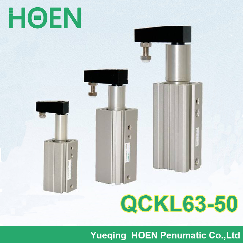 QCKL63-50 QCKR63-50 Airtac type Double Acting Rotary Clamp Cylinder QCK series pneumatic cylinder цены онлайн
