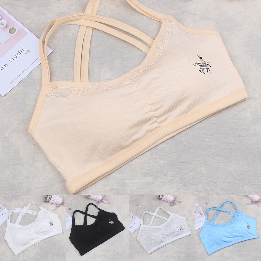 Popular Brand Hot Muqgew Girls Students Underwear Bra Vest Children Underclothes Bow Knot Undies Clothes Vest Child World Of Tank Girls Bras
