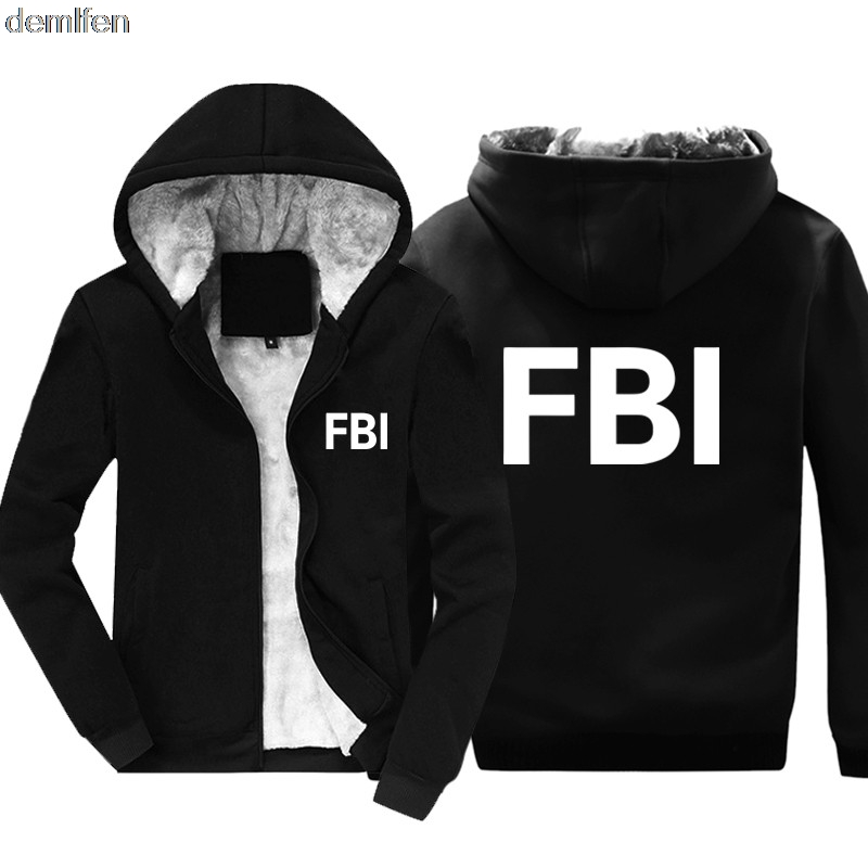 Uomo Felpa con Cappuccio FBI