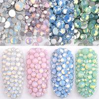 1 Pack Multi Size SS4-SS20 Opal Nail Rhinestones Flat Bottom Colorful Crystal  Glass Gems 3924518ba4bd