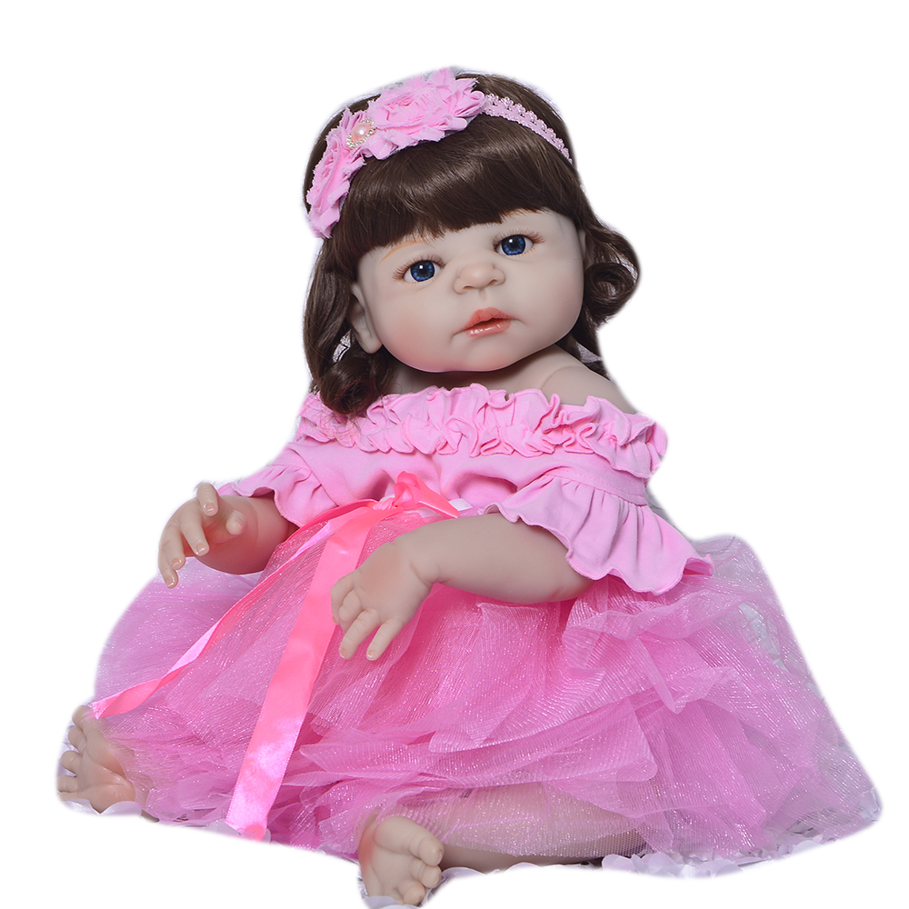 57 cm Newborn Dolls Reborn Baby Doll 23 '' Full Silicone Vinyl Babies Realistic Princess Toy For Girl Children Birthday Gift цена