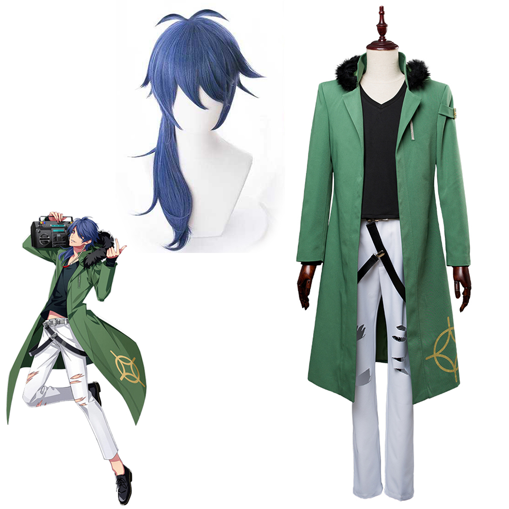 Necklace Division Rap Battle Ramuda Amemura Adult Cosplay Costume with Hat