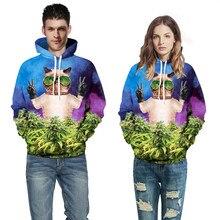 3D galaxy digital print funny cat mean yes cute Meow star people Both men and women autumn/winter hoodies fashion sweatshirt men