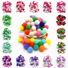 Pompons ronds en fourrure, 100 pièces, 10mm, 15mm, 20mm, 25mm, 30mm, bricolage, artisanat, couture, décoration de maison, mariage pour enfants