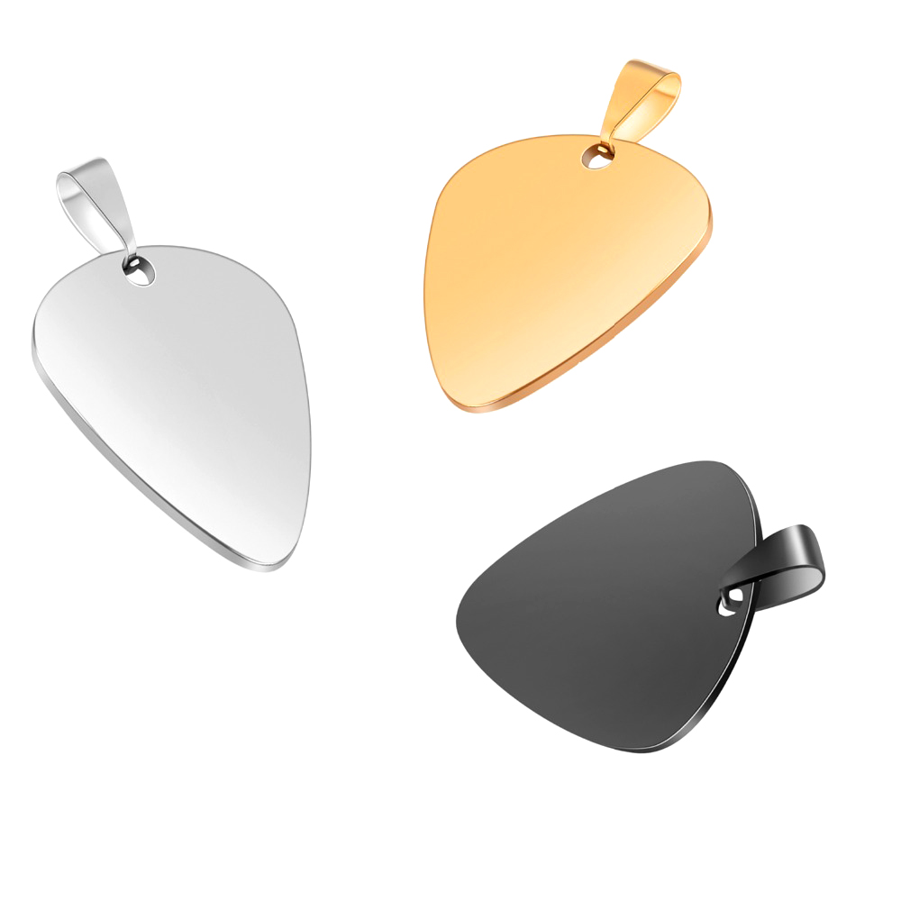 guitar pick pendant- guitarmetrics
