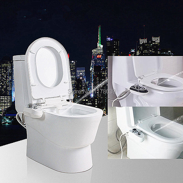 nicht elektrische toilette bidet mit weiblichen reinigung d se spray waschen feminine butt. Black Bedroom Furniture Sets. Home Design Ideas