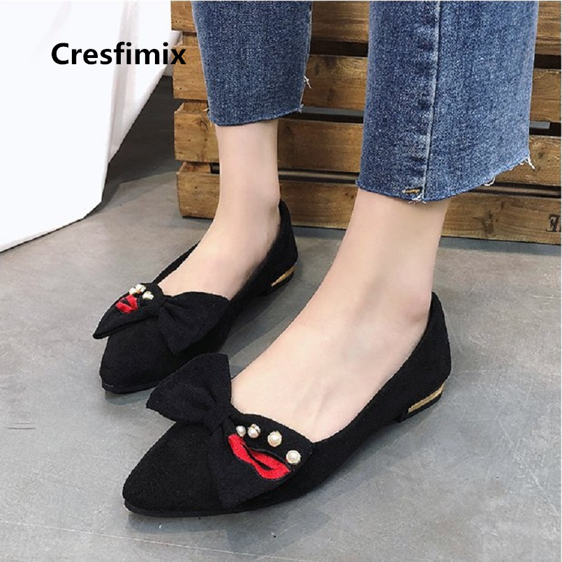 Cresfimix women fashion spring summer kiss flock flat shoes lady cute comfortable street slip on shoes zapatos de mujer a2630 cresfimix chaussures pour femmes women cute spring slip on flat shoes with rubber bottom lady casual comfortable street shoes