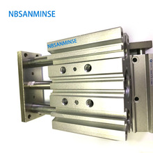 NBSANMINSE MGPL Bore 80  ISO Compact Cylinder Guide Rod Pneumatic Air Double Acting