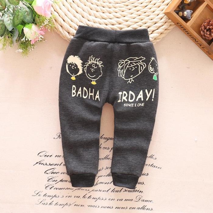 0cd82c88df4a baby pants autumn winter new cotton and wool Warm Korean cartoon ...