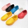2016 nuevo tamaño 21-35 niños shoes kids pu de cuero zapatillas de deporte para niños y niñas de caramelo sólido bebé shoes