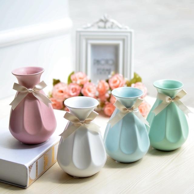 Jingdezhen Ceramic Mini Flora Bottle Flower Small Vase Green