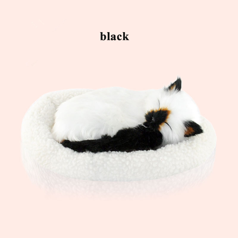 Купить с кэшбэком Kawaii Plush toys Simulation cat interactive toys breathing cat Stuffed Toys for children animal model