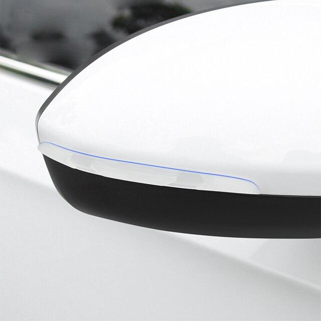 Car Door Edge Guard Scratch Strip Protector Rubber Sticker Auto Rearview Mirror Front Rear Bumper Protection Film Universal Trim