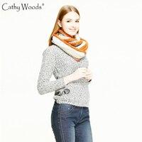 [Cathy Вудс] Модный снуд зимние вязаные Средства ухода за кожей шеи кольцо шарф Для женщин зима теплая вязаная Средства ухода за кожей Шеи толс...