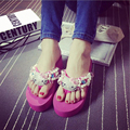 Cute kitty chinelos tanga cheia rhienstiones glittering brilhante sapatos de praia das mulheres flip flops sandálias de cunha mulher havaiano flats