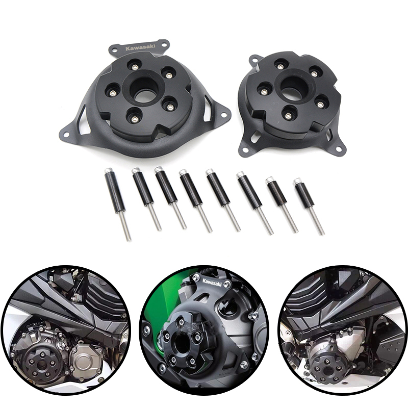 CNC Motorbike accessories Motorcycle Engine Stator Cover Engine Protective Cover For kawasaki z800 z 800 2013 2014 2015 2016 16 motorbike accessories cnc folding