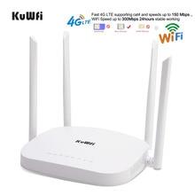 KuWFi 4 г LTE Wi Fi маршрутизатор, 300 Мбит/с 3g/4 беспроводной роутер CPE с слот sim карты Поддержка к LAN устройства шт. Внешний Anten