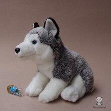 Real Life Plush Dogs Dolls Stuffed  Animal Toy Cut Husky Doll  Children's Toys Present