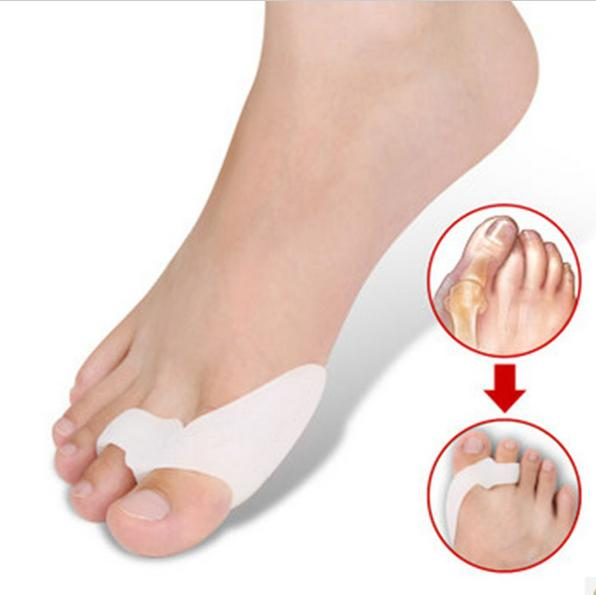 500pairs Lot Gel Silicone Bunion Corrector Big Toe Separators Straightener Spreader Foot Care Tool Hallux Valgus