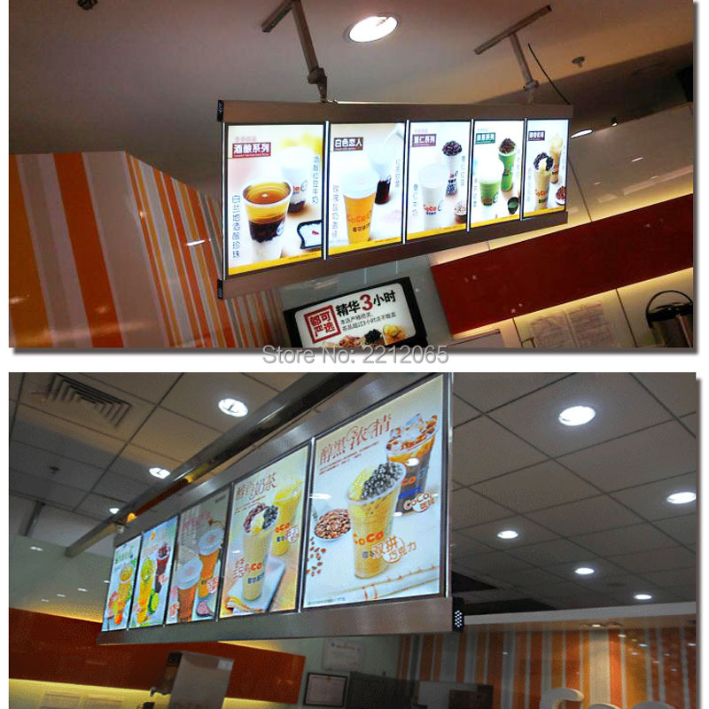 (5 graphics/Column) Restaurant Led Menu Light Box, Hotel Led Menu Board(Single sided)