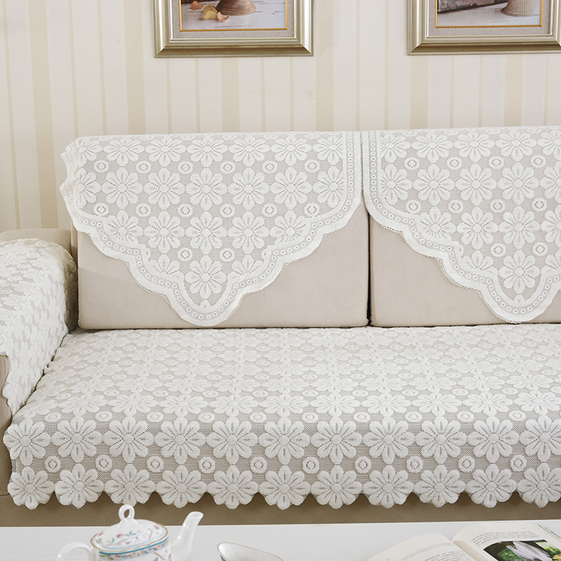1pcs White Lace Fabric Sectional Sofa Cover Towel Tablecloth Home Decoration Dustproof In From Garden On Aliexpress Alibaba