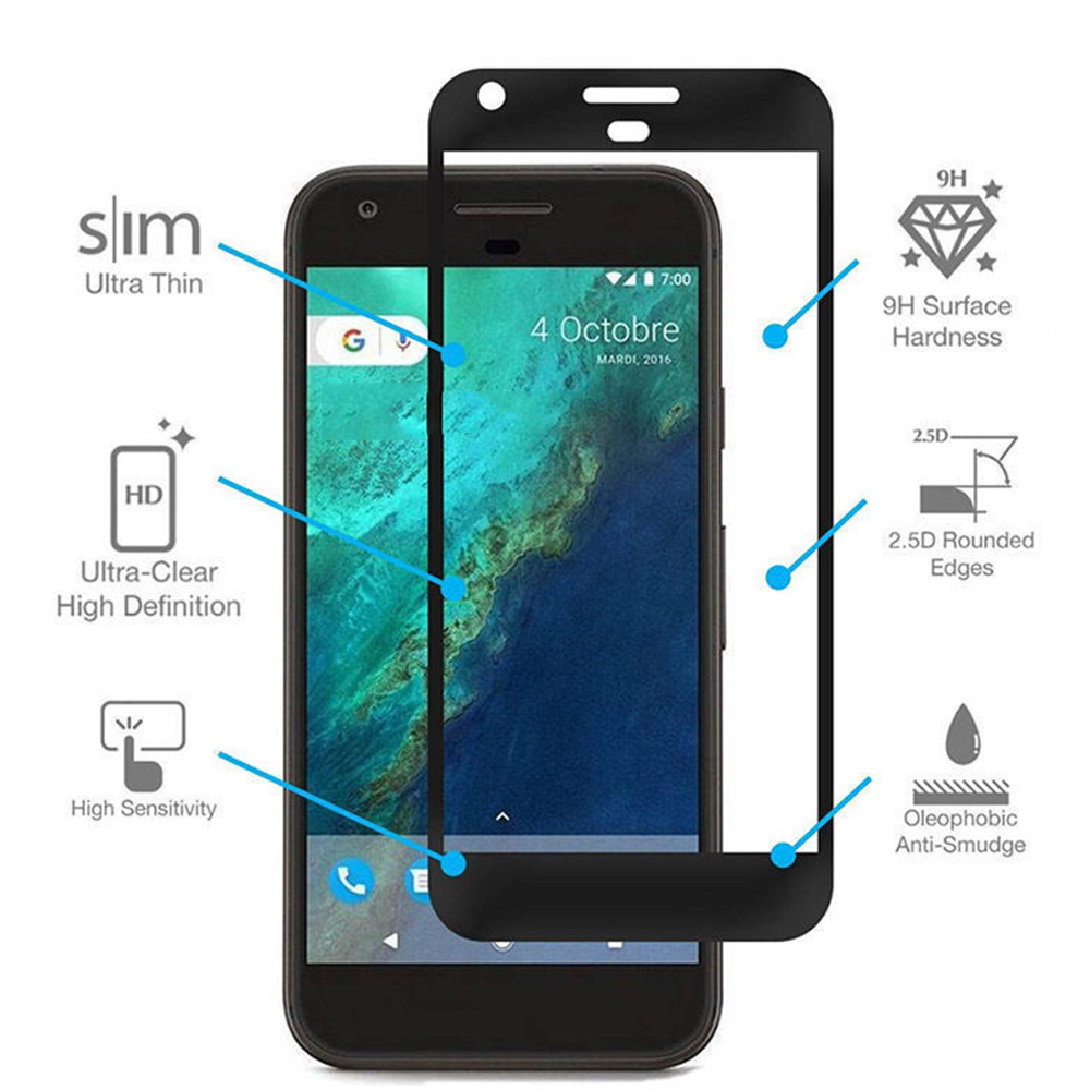 2.5D Screen Protector For Google Pixel 3 Full Cover Tempered Glass For Google Pixel 2 Pixel2 XL 2Xl Pixel3 Protective Film Case