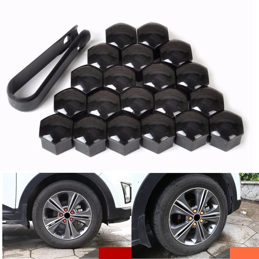 20pcs Car Wheel Nut Caps Auto Hub Screw Cover 17mm Bolt Rims Exterior Decoration Special Socket Protection Dust Proof in Nuts Bolts from Automobiles Motorcycles