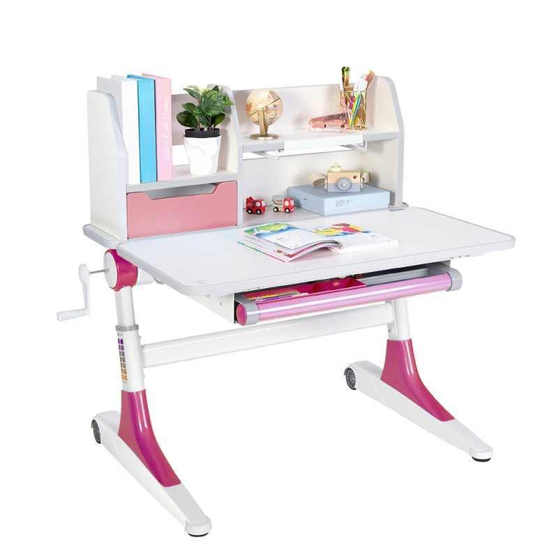 Многофункциональный Детский стол для занятий из цельного дерева, детский домашний стол, студенческий Регулируемый Настольный стол, без стула, корректирующая осанка