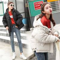 Brieuces 2018 New style Casual Short Solid Autumn Winter Women's Jacket Winter Women Cotton Padded Coat Thicken Warm Down Parkas