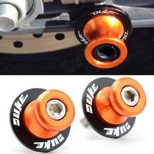 10MM duke LOGO Motorcycle Swingarm Spools slider stand screws For KTM 990 SuperDuke 690 390 DukeRC390 200 DukeRC200 690 Duke R