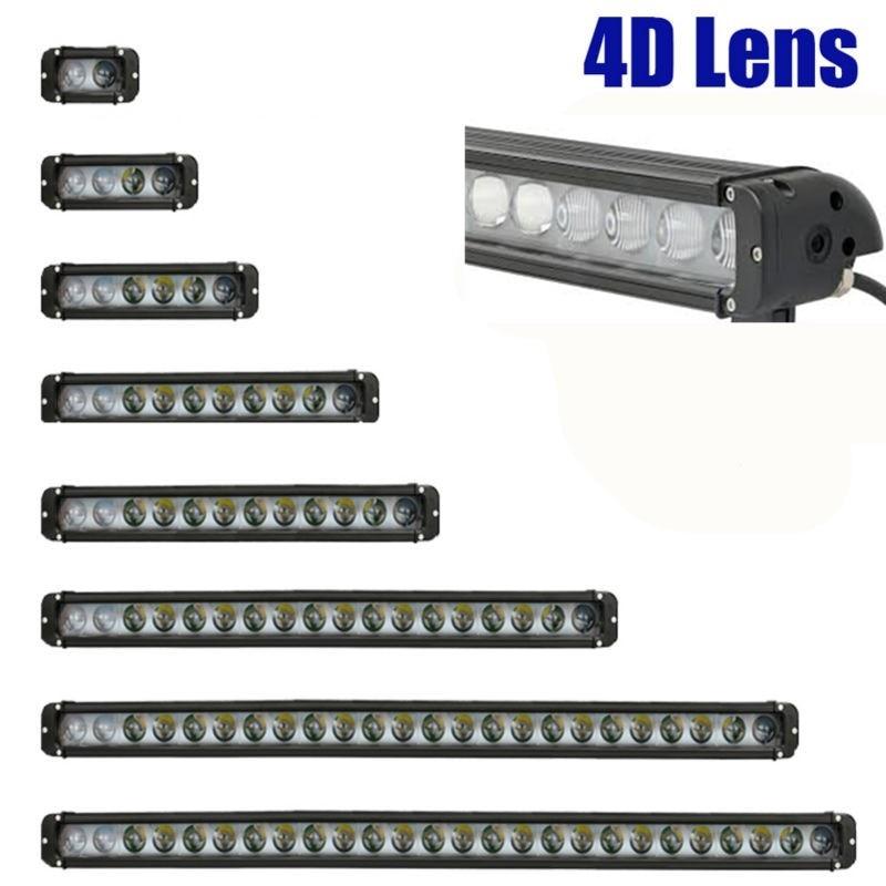 5 8 11 13 17 20 27 30 40 42 Inch 4D Single Row Led Light Bar 12V Car Accessories For 4x4 Jeep Ford Toyota Suv ATV 10W Leds 24V