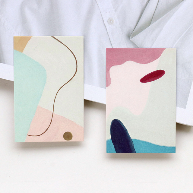 Abstract Creative Colorful Mini Paper Postcards 28 pcs Set
