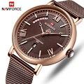 NAVIFORCE Uhr Männer Fashion Business Uhren männer Casual Wasserdicht Quarz Armbanduhr Edelstahl Mesh Relogio Masculino-in Quarz-Uhren aus Uhren bei