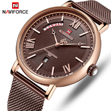 NAVIFORCE Men's Casual Waterproof Quartz Stainless Steel Watch (5 colors)