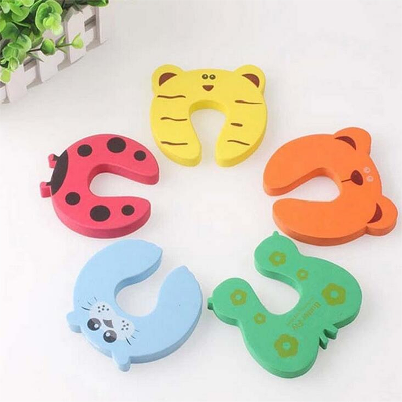 4pcs Colorful Baby Helper Door Stop Finger Pinch Guard Lock Toy Safety Guard FH003
