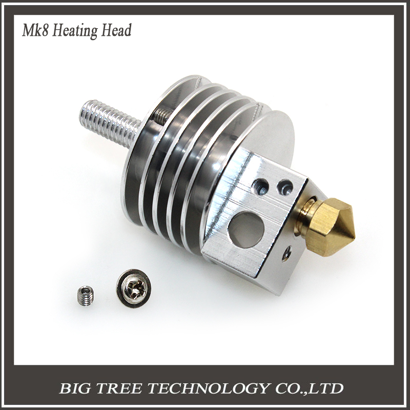 3D printer parts Mk8 short distance and long distance heating head printhead M6 threaded for free