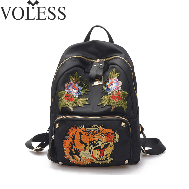 2018 New Arrival Backpack Women Embroidery Pu Leather Backpack School Bags For Girls Mochila High Quality Black Backpack new arrival 2017 high quality big pu leather students backpack travelling shoulder bags casual backbag girls fashion backpack