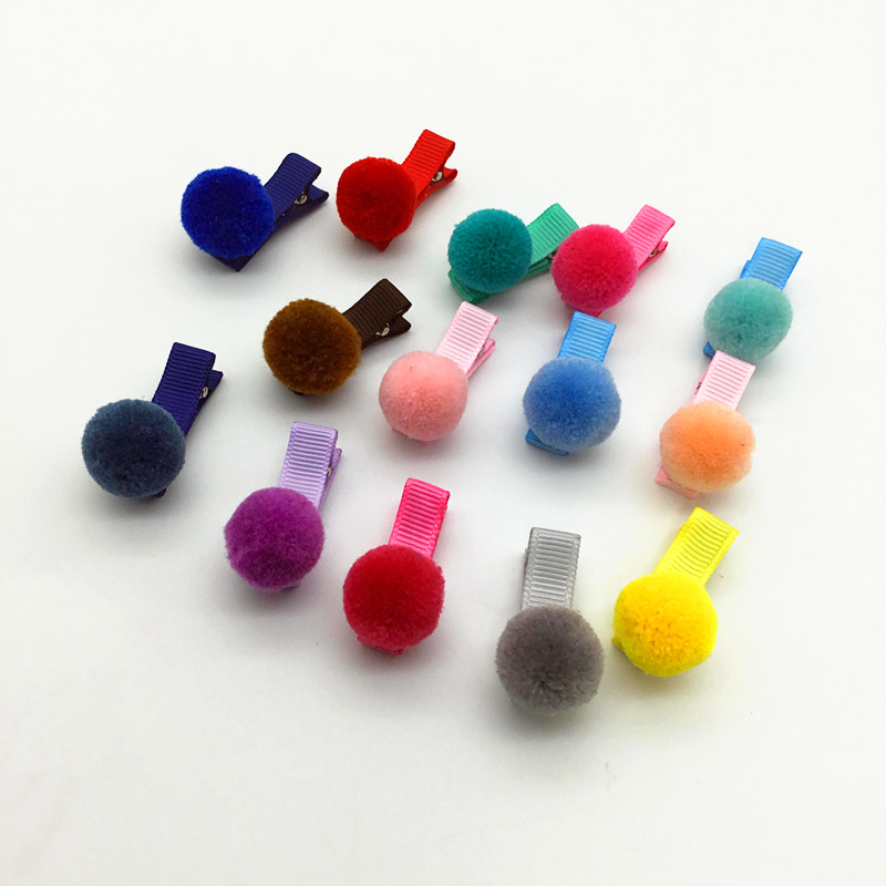 14pcs child girl hair accessories pompom soft ball elastic hairband hair ties gum rainbow kid hair clip hairpin barrettes Q21 8 pieces children hair clip headwear cartoon headband korea girl iron head band women child hairpin elastic accessories haar pin