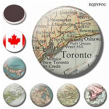 Toronto Canada Vintage Map 30MM Fridge Magnet West Hill Map Glass Cabochon Magnetic Refrigerator Stickers Note Holder Home Decor(China)