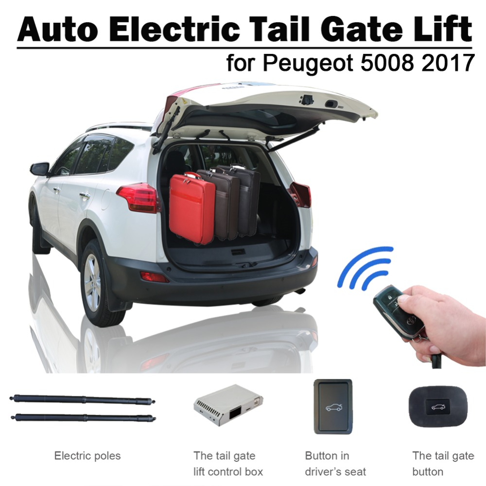 Smart Auto Electric Tail Gate Lift For Peugeot 5008 2017 Remote Control Drive Seat Button Control Set Height Avoid Pinch