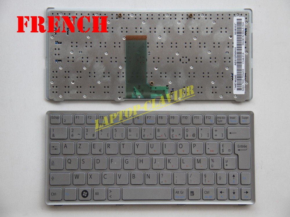 NEW KEYBOARD FOR Sony Vaio Sony Vaio VPC-W W217 Service US SILVER with frame