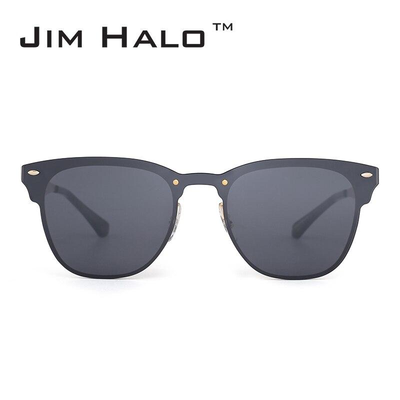 Jim Halo tükrözött Rimless One Piece Horned Rimmed Metal Integrált ... eb5303a7b4