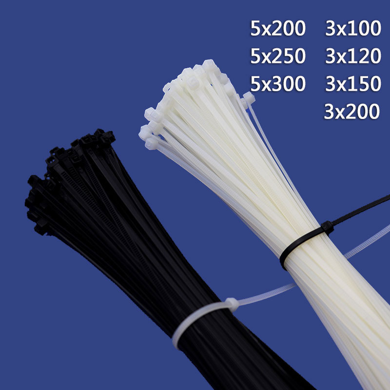 100PCS 3*100 3*120 3*150 3*200 White Black Milk Cable Wire Zip Ties Self Locking 5*250 Nylon Cable Tie 3x100mm 3x150mm 3x200mm 100pcs 3 100 3 120 3 150 3 200 white black milk cable wire zip ties self locking 5 250 nylon cable tie 3x100mm 3x150mm 3x200mm