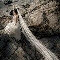 Real Simple Mais Barato Do Marfim 2.5 M Véus de Noiva de Tule 2016 Igreja Longos Véus de Noiva Acessórios Do Casamento voile mariage V96