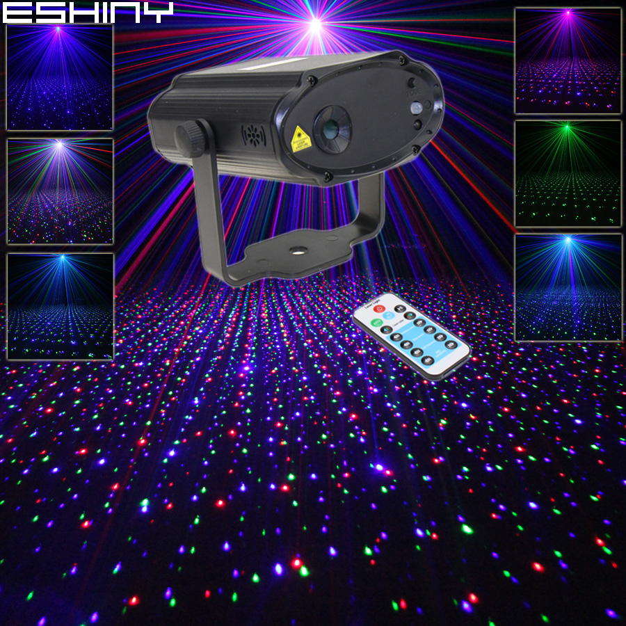 Commercial Lighting Careful Eshiny Remote Mini Rgb Laser Full Stars Pattern Projector Dj Dance Disco Bar Family Party Xmas Stage Effect Light Show H1rgb Lights & Lighting