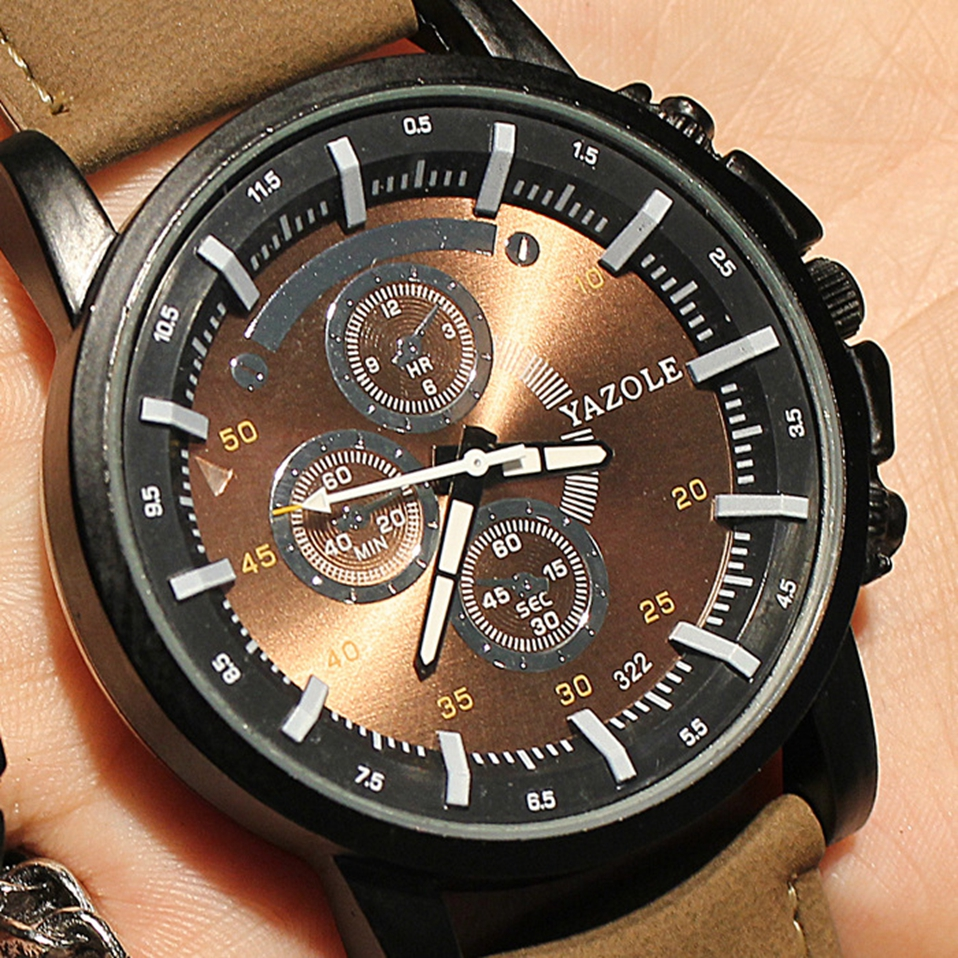 все цены на YAZOLE Waterproof Sport Men Watch 2018 Top Brand Luxury Famous Large Dial Wrist Watch Male Clock Quartz-Watch Relogio Masculino онлайн