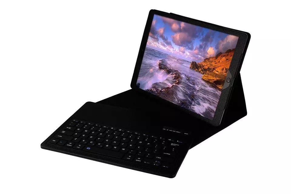 Prix pour 2 en 1 Amovible Sans Fil Bluetooth Clavier véritable Housse En Cuir Pour Apple iPad Pro 12.9 pouces couvercle du clavier en cuir