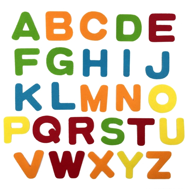 Aliexpress.com : Buy 26 English Alphabet Felt Toys Colorful Wall ...