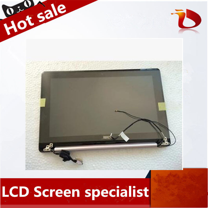 Free shipping For ASUS X202E assembly X202 S200 S200E LCD Display with Touch Screen Cover Laptop Screen assembly black color